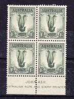 Australien 1937 SG 174  */** Perf 13 1/2 X 14 WZ In Viererblock - 1937-52 George VI