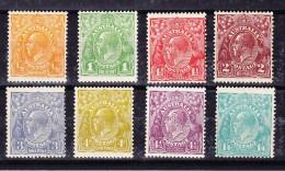 Australien 1926/29 * SG#94,95,97,99,100,102,103,104. - 1913-36 George V : Têtes