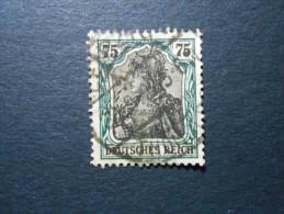 D.R.Mi 104a - 75Pf - Germania 1918 - Schwarzblaugrün - Used Stamps
