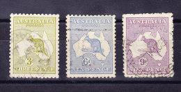 Australien 1915/16 SG 37, 38, 39 Gestempelt - 1913-48 Kangaroos