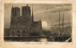 8203. Postal  PARIS. Notre Dame. Eau Forte Du Pinet - Notre Dame De Paris