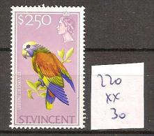 Saint Vincent 220 ** Côte 30 € - St.Vincent (...-1979)