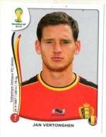 FIGURINE PANINI NUOVE - MINT STICKERS BRASIL WORLD CUP 2014 - BELGIUM - JAN VERTONGHEN - N.569 - Edizione Italiana