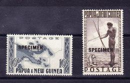 Papua & New Guinea 1952 SG 14 **  + 15 ** Paar Specimen - Papouasie-Nouvelle-Guinée
