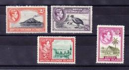 Britisch Salomon Islands 1939/42 - SG # 69 - 72 Alle * - Salomon (Iles 1978-...)