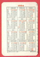 K884 / 1964 -  - Calendar Calendrier Kalender - DDR  Germany Deutschland Allemagne Germania - Calendriers