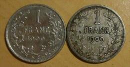 1 FRANC BELGE 1909 - 1865-1909: Leopold II