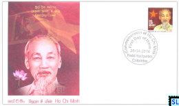 Sri Lanka Stamps 2014, Ho Chi Minh, Vietnam, FDC - Sri Lanka (Ceylon) (1948-...)
