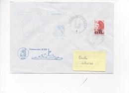 CAD CROISEUR COLBERT 19/10/1988 Sur TP Marianne ECU - Cachets Cdt BORY Et Cdt BORY Bicentenaire De L´Australie - Postmark Collection (Covers)