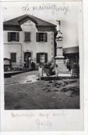 Rare GROISY Carte Photo  La Mairie Et Le Monument Aux Mort - France
