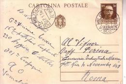 Cartolina Postale Somalia Italiana -- P M 106 C.N. 6a Divis. TEVERE 16° BTG Comp. 220 Legione 301 Compagnia AQfrica Orie - 1900-44 Vittorio Emanuele III