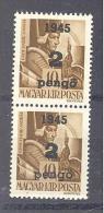 NAGYVÁRAD 1945 / ORADEA 1945  # 10 Aufdruck Type I + III  Pärchen  SELTEN   RRR - Emissions Locales
