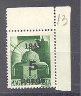 NAGYVÁRAD 1945 / ORADEA 1945  # 22 Aufdruck Type  I  Eckrandstück  SELTEN   RRR - Emissions Locales