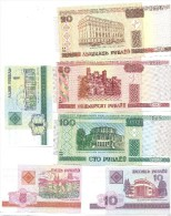 LOTE DE BIELORRUSIA LOTE 6 BILLETE DIFERENTES - Billets