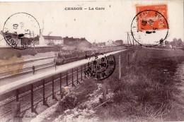 CESSON LA GARE BEAU PLAN DU TRAIN EN 1915 - Cesson