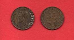 SOUTH AFRICA, 1941,  Circulated Coin, 1 Penny, George VI, Km 25, C1423 - South Africa