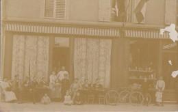 Commerces - Carte-Photo - Café Evrard-Lobleau - Absinthe - Vélo - A Situer - Caffé