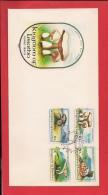 LESOTHO, 1983, FDC, Mint, Mushrooms, Nr(s) 411-414,  F3438 - Lesotho (1966-...)
