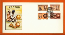 LESOTHO, 1980, Mint FDC,  Traditional Pottery  , Nr(s)308-311,  F995 - Lesotho (1966-...)