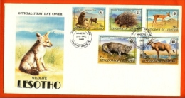 LESOTHO, 1981, Mint FDC,  WWF- Animals  , Nr(s) 361-365,  F982 - Lesotho (1966-...)