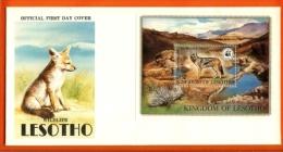 LESOTHO, 1981, Mint FDC,  WWF- Animals  , Block Nr. 12, Nr(s) 366,  F 983 - Lesotho (1966-...)