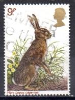 GREAT BRITAIN 1977 British Wildlife -  9p. - Brown Hare  FU - Usati