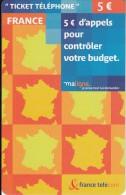 FRANCE - France Telecom Prepaid Card 5 Euro, Exp.date 30/09/06, Mint - France