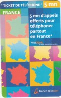 FRANCE - France Telecom Promotion Prepaid Card, Exp.date 05/09/04, Mint - France