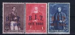 Belgium, 1930 OPB Nr 305-307 MH/*