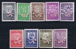 Belgium, 1940 OPB Nr 538 - 546 MH/* Non Perforated, - Belgique