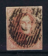 Belgium, OPB 8 Used  Thin Paper 18 * 21 Mm - 1851-1857 Médaillons (6/8)