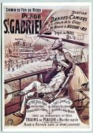 Affiche Sur Carte Postale - Plage Saint-Gabriel (2) - Publicité