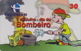 Télécarte Brésil - Journée Des POMPIERS - DAY OF FIRE BRIGADE Brazil Phonecard - FEUERWEHR - 40 - Pompiers