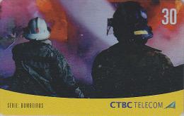Télécarte Brésil - POMPIERS / Série 1/4 - FIRE BRIGADE Brazil Phonecard - FEUERWEHR Telefonkarte - 41 - Firemen