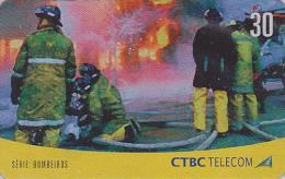 Télécarte Brésil - POMPIERS / Série 2/4 - FIRE BRIGADE Brazil Phonecard - FEUERWEHR Telefonkarte - 42 - Firemen