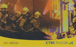 Télécarte Brésil - POMPIERS / Série 3/4 - FIRE BRIGADE FIREMEN Brazil Phonecard - FEUERWEHR Telefonkarte - 43 - Firemen