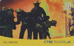 Télécarte Brésil - POMPIERS / Série 4/4 - FIRE BRIGADE Brazil Phonecard - FEUERWEHR Telefonkarte - 44 - Firemen
