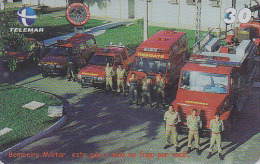 Télécarte Brésil - POMPIERS MILITAIRES - MILITARY FIRE BRIGADE FIREMEN Brazil Phonecard - FEUERWEHR Telefonkarte - 45 - Pompiers