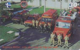 Télécarte Brésil - POMPIERS MILITAIRES - MILITARY FIRE BRIGADE FIREMEN Brazil Phonecard - FEUERWEHR Telefonkarte - 45 - Firemen