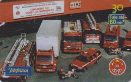 Télécarte Brésil - POMPIERS MILITAIRES - MILITARY FIRE BRIGADE FIREMEN Brazil Phonecard - FEUERWEHR Telefonkarte - 47 - Pompiers