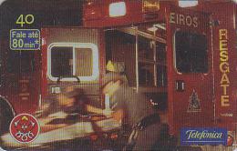 Télécarte Brésil - POMPIERS / Secours Aux Accidentés - FIRE BRIGADE FIREMEN Brazil Phonecard - FEUERWEHR Telefonkarte 49 - Firemen