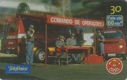 Télécarte Brésil - POMPIERS - FIRE BRIGADE FIREMEN Brazil Phonecard - FEUERWEHR Telefonkarte - BOMBEIROS - 52 - Pompiers