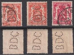 COB 419 (2x), 423 PERFORATION BDC BANQUE DE COMMERCE / PERFINS LOCHUNG PERFORATIE - Lochung