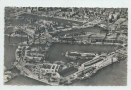 Le Havre (76) : Vue Générale Aérienne Sur Le Port En Reconstruction En 1952 (animé) PF. - Port