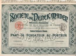 SOCIETE´ DE DENEK-MADEN-PARIS-18-2-19 07 - Azioni & Titoli