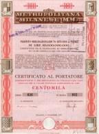METROPOLITANA MILANESE-PRESTITO OBLIGAZIONARIO-LIRE CENTOMILA-3-12-1973 - Transports
