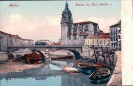 Espagne, Bilbao Puente De San Anton Barques Et Tram (2929) - Vizcaya (Bilbao)