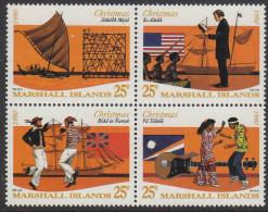 MARSHALL Is, 1990 XMAS BLOCK 4 MNH - Marshall Islands