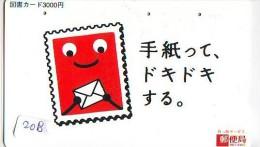 TEMBRE Sur Télécarte Japon * Stamp   On Japan Phonecard (208) Briefmarke Auf TELEFONKARTE * - Timbres & Monnaies