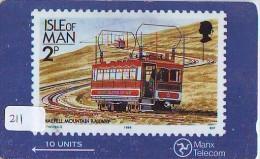 TEMBRE Sur Télécarte  * Stamp  On Phonecard (211) Briefmarke Auf TELEFONKARTE * TRAM - Timbres & Monnaies